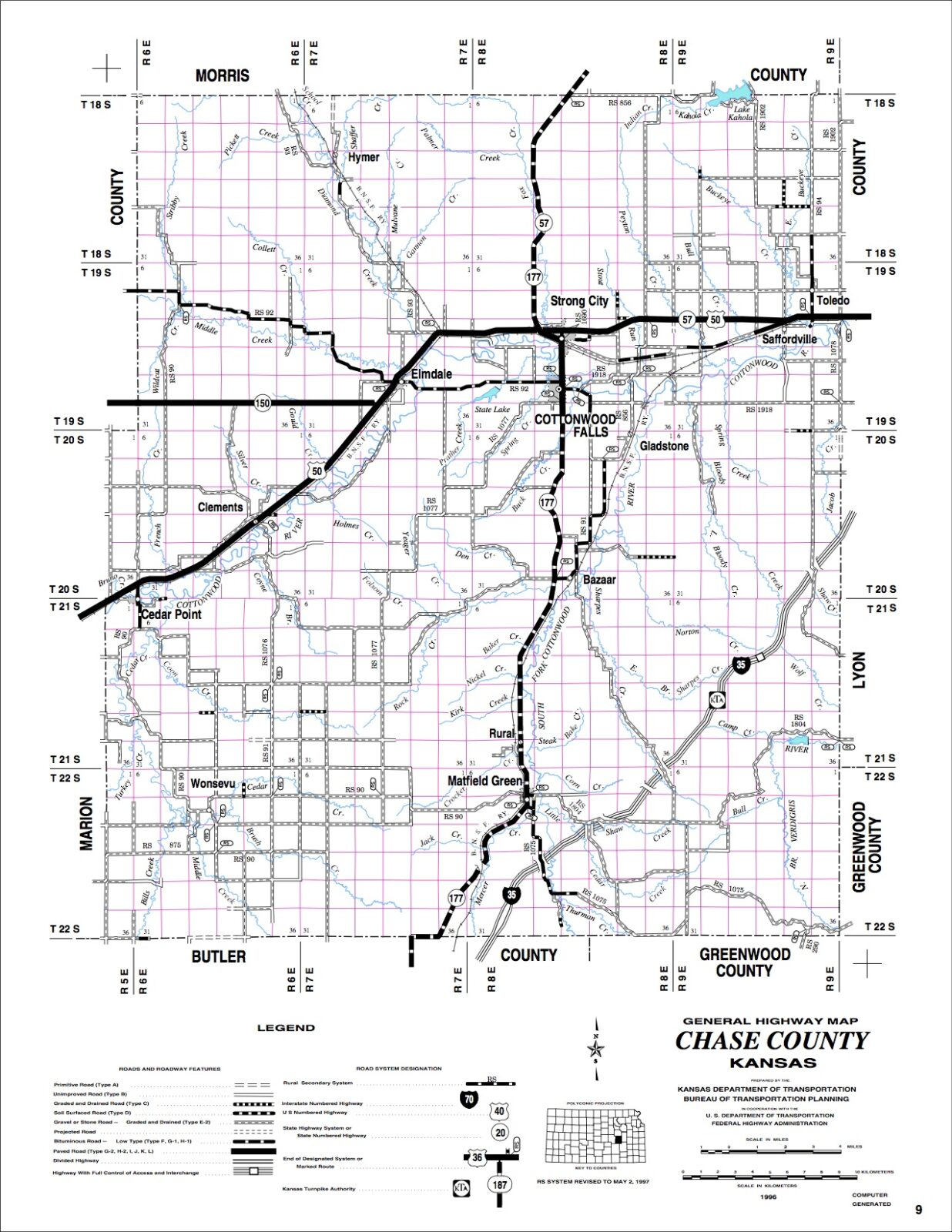 Chase County Driving Tour Map Chase County Kansas Find